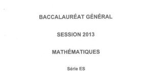 Sujet de Spécialité de Maths Pondichéry 2013 : Bac ES