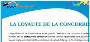 La Loyauté de la Concurrence : Cours Droit Terminale STG