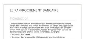Le rapprochement bancaire