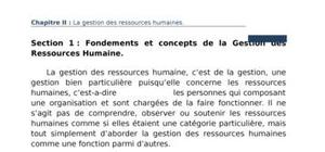 Gestion des ressource humaine