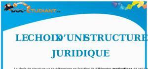 Le Choix d'une Structure Juridique : Cours de Droit BTS
