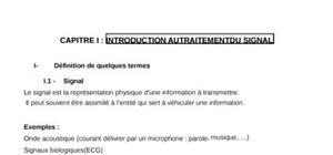 traitement du signal:introduction