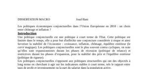 Dissertation de macroecono,ie