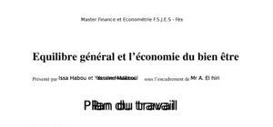 équilibre général et économie du bien être
