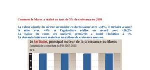 Comment le maroc a réalisé un taux de 5% de croissance en 2009