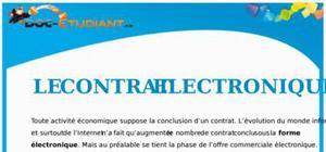 Le Contrat Électronique : Cours de Droit BTS