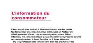 L'information du consommateur