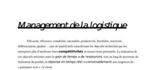 Management logistique: concept evolutif