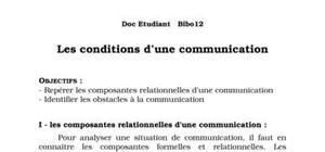 Les conditions d'une communication