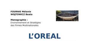 L'oréal: stratégie à l'international