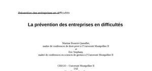 La prévention des entreprises en difficultés en droit marocain