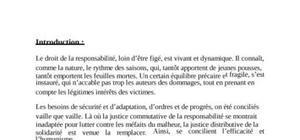 La résponabilité civile en droit marocain