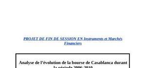 Analyse de l'évolution de la bourse de casablanca durant la période 2006-2010