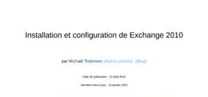 Installation et configuration exchange2010