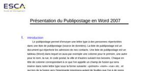 Publipostage-word 2007