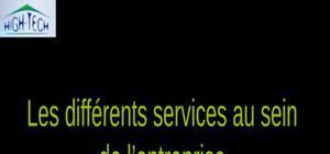 Les differents services au sein de l entreprise