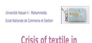 Crisis of textile in morocco