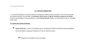 Le concept marketing