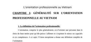 L'orientation professionnelle au vietnam