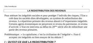 La redistribution des revenus au maroc