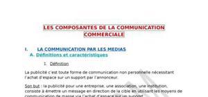 Les composantes de la communication commerciale