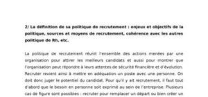 Politique de recrutement