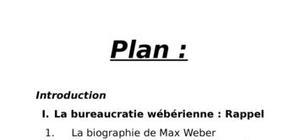 La bureaucratie wéberienne
