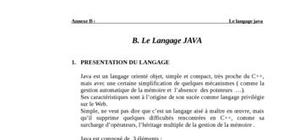 Le langage java cours