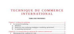 Technique du commerce international