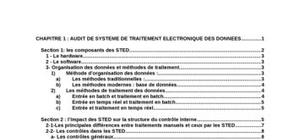 Audit de systeme de traitement electronique des donnees