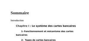 La carte bancaire mécanisme et fonctionnement