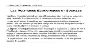 Les politiques economiques et sociales