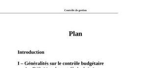 Controle budgetaire dans l'entreprise