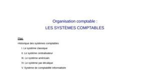 Les systèmes comptables