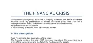 Financial crisis anglais expose