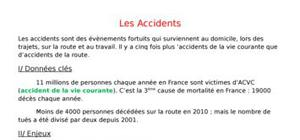 Les multiples accidents