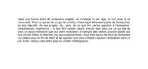 Exemple De Lettre De Motivation En Anglais