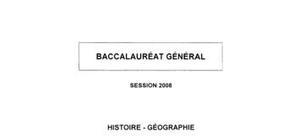 Sujet bac de géographie 2008
