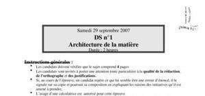 Ds n°2 architecture de la matière