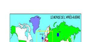 Carte du monde de l'après guerre