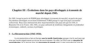 Évolutions dans les pays développés à économie de marché depuis 1945