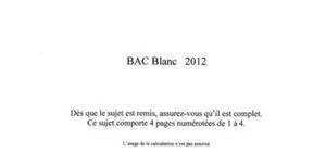 Bac Blanc S SVT 2012