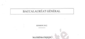 Sujet Bac ES Maths Spécialité Pondichéry 2012