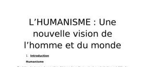 Le mouvement humaniste