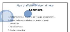 dossier financier business plan gratuit