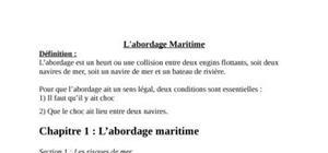 L'abordage  maritime