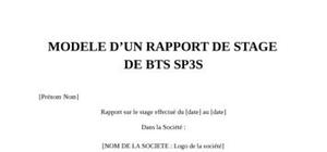 Lettre De Motivation Bts Sp3s