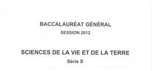 Sujet Bac S SVT Washington 2012