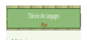 Cours de theorie de langage partie 1