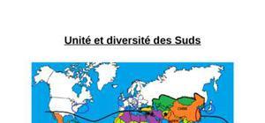Unité et diversité des suds